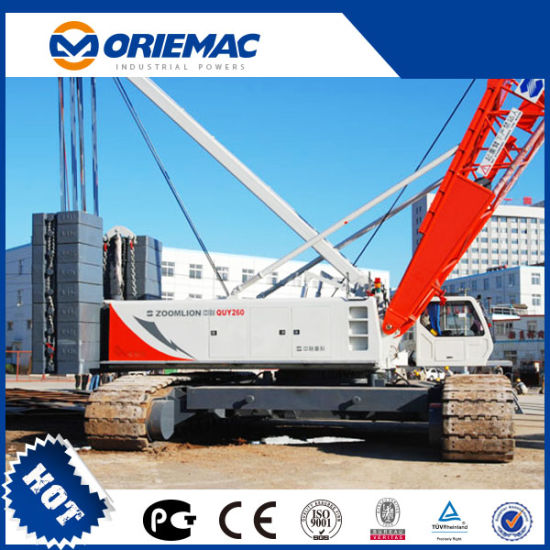 Zoomlion Crawler Crane 260 Ton Telescopic Boom Mobile Crane Quy260 pictures & photos