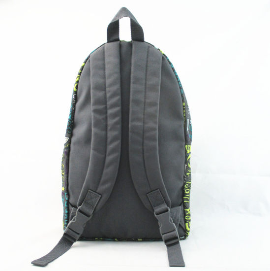 Grey Letter Print Kids′ School Backpack pictures & photos