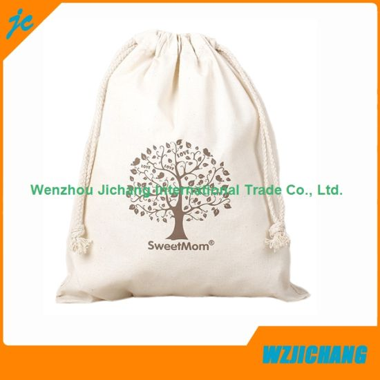 2701da04caea China Custom Printed Cotton Muslin Drawstring Pouch Bags - China ...