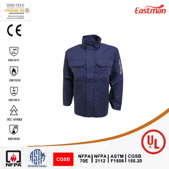 En11612/En1149-5 Standards Flame Retardant and Anti-Static Jacket for Workers