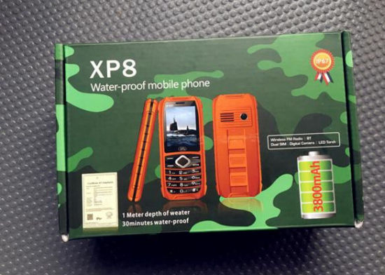 Waterproof/Dustproof/Shockproof Phone with XP8 Dual SIM Card Double Standby MP3 Big Speaker Smart Phone pictures & photos