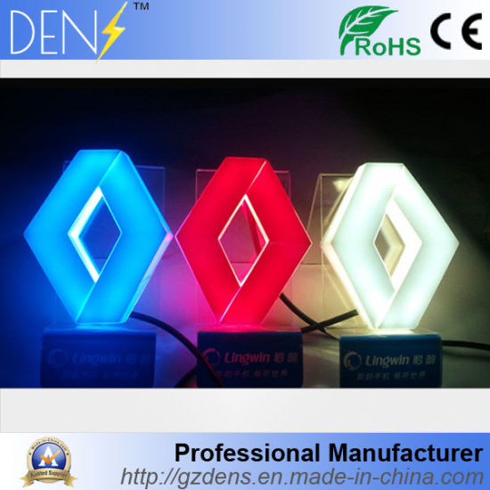 China 4d Led Light Rear Back Car Logo Led Emblem For Renault China