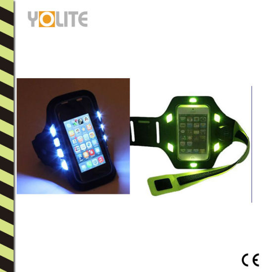 Universal Sports Armband Case for Outdoor LED Light Reflective pictures & photos