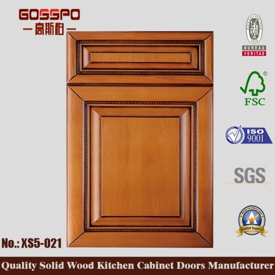 Sapele Wood Kitchen Cabinet Door (GSP5 021)