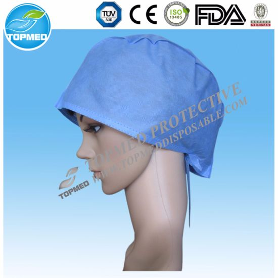 469298cf822 Nonwoven Surgical Cap/Fabric Surgical Caps/General Medical Suppliers  pictures & photos