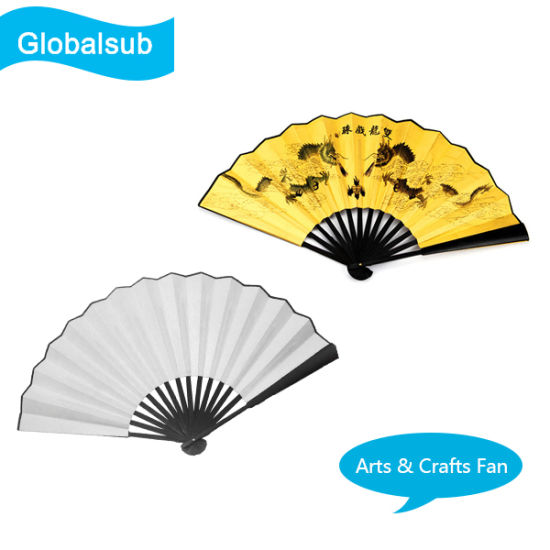 Customized Bamboo Folding Fan with DIY Sublimation pictures & photos