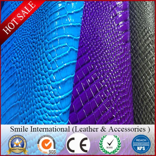 PVC Leather Imitation Cotton Backing Use Shoes Bags and Sofa Factory Wholesales pictures & photos