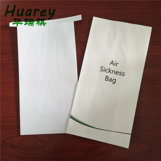 Wholesale Customized Airsickness Paper Bags/Hotel Sanitary Vomit Disposable Bag with Flat Bottom