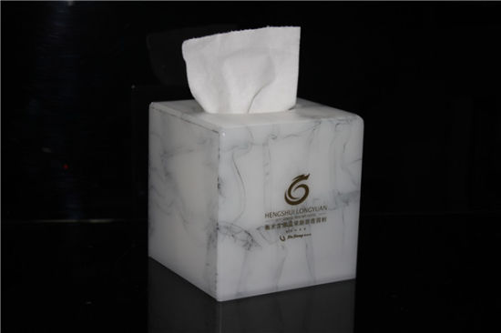Marble Texture Luxury Square Acrylic Tissue Box pictures & photos