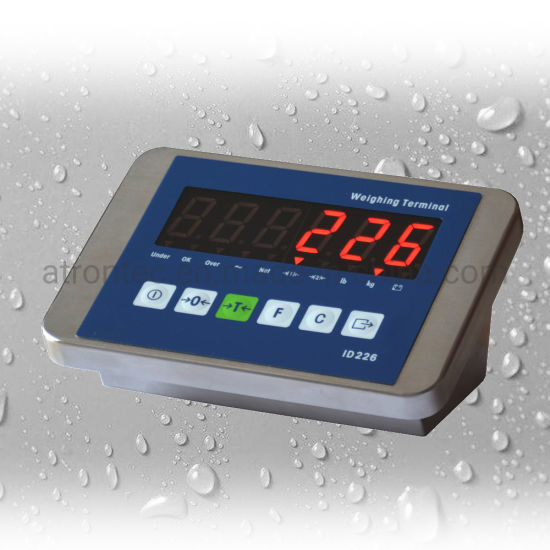 IP67 Waterproof Stainless Steel Enclosure Weight Indicator with Red LED