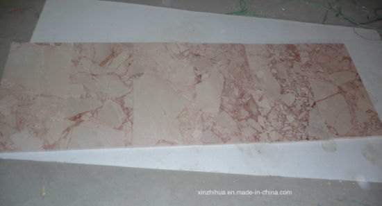 Beige Marble Slabs with Big Flower for Tiles/Countertops/Stair Steps pictures & photos