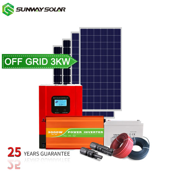 3kw 5kw off Grid Solar Power System Solar Energy Panel System for Home Price with Battery pictures & photos