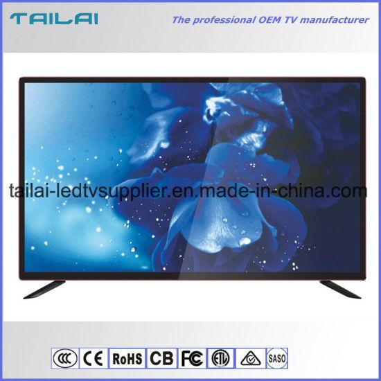 "43"" DVB-T2 S2 2 Tuner FHD Digital Smart LED TV Aluminum Alloy Cabinet"