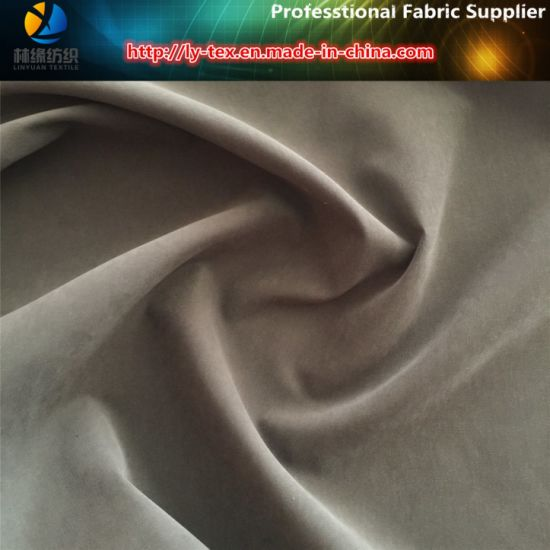 Polyester/Nylon Peach Skin, Polyester &Nylon Blended Fabric with Sueded for Garment pictures & photos