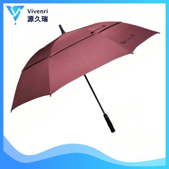 UV Double Canopy Automatic Lady Foldable Golf Sun Umbrella UVA Line
