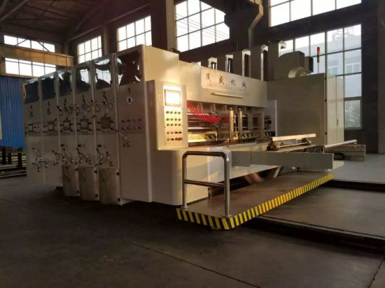 Lead Edge 3 Color Printing Slotting Rotary Die Cutter Machine