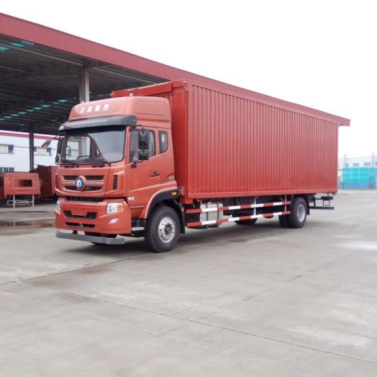 HOWO 4X2 Small Diesel Bottle Transportation Box Cargo Truck for Sale