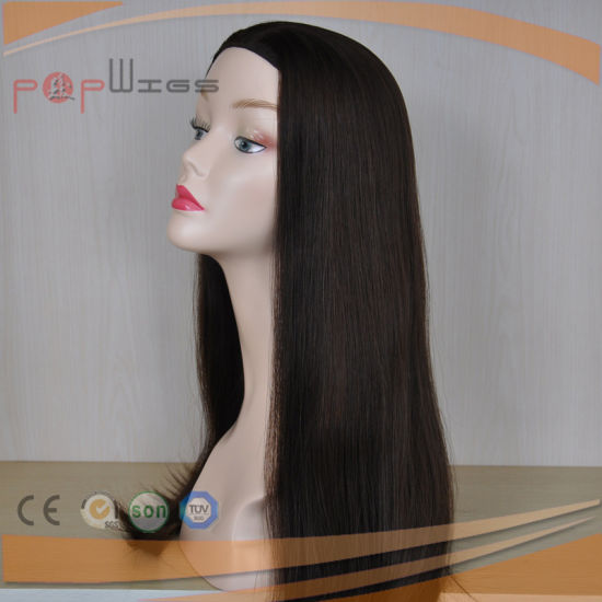 Beautiful Elegant Machine Made Fall Wig Type Virgin Hair Jewish Kosher Band Fall Wigs pictures & photos