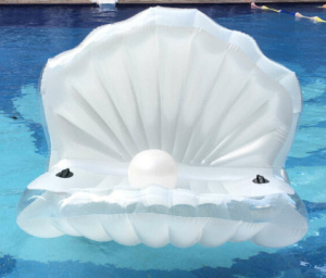 Inflatable Shell Float, Inflatable Cameo Shell Sofa, Inflatable Conch Mattress