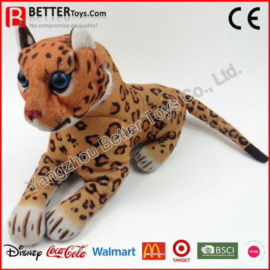 China Stuffed Animal Plush Leopard Soft Toys For Kids Children