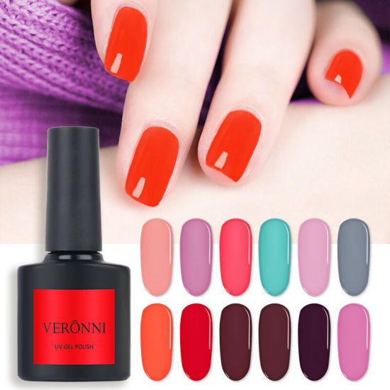 China VERONNI 108 Colors Nail Polish Purple Red Black Gray Soak Off ...