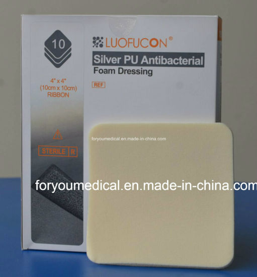 for Ulcer Pressure & Diabetic Wound Care Silver Foam Dressing Sfd1070 pictures & photos