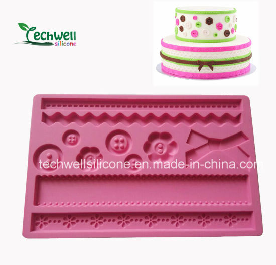 Gloable Cake Decoration Silicone Fondant Mold pictures & photos