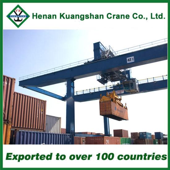 China Double Girder Rail Mounted Port Gantry Crane for