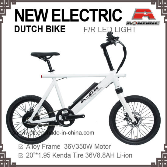 China 20 Inch Alloy Dutch Oma Holand Electric Bike Battery Bicycle ...