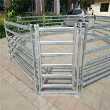 High Zinc Coating Welded Rail Livestock Cattle Fence Panels with Gate