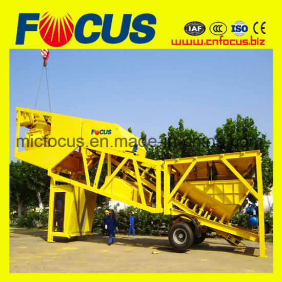 Popular Trailer Mobile Concrete Batching Plant Yhzs75 pictures & photos