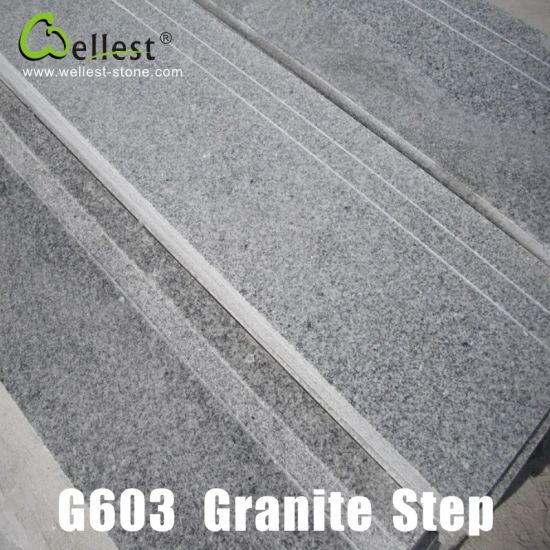 G603 China Rosa Beta Luner Pearl Grey Granite Interior and Exterior Steps/Stairs/Treads pictures & photos