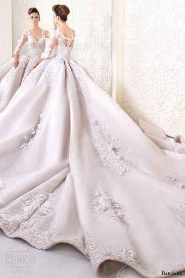 Arabic Bridal Ball Gowns Dar Sara Applique Beads Corset Wedding Dresses Z8002