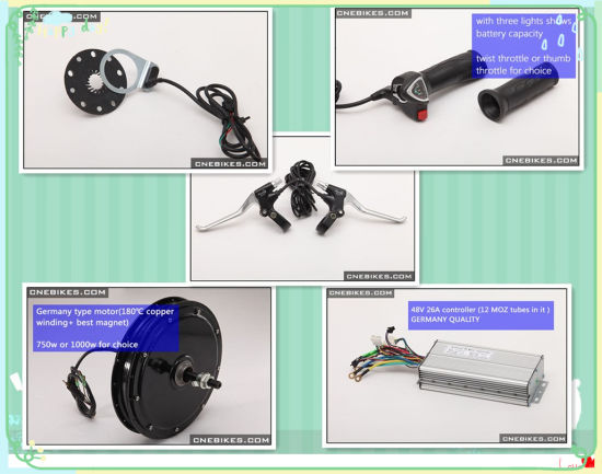 28′′ Rear Wheel Motor Ebike Conversion Kit with Battery pictures & photos