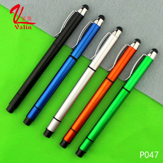 Multi-Color Highlighter Plastic Pen Cheap Customized Logo Pen on Sell pictures & photos