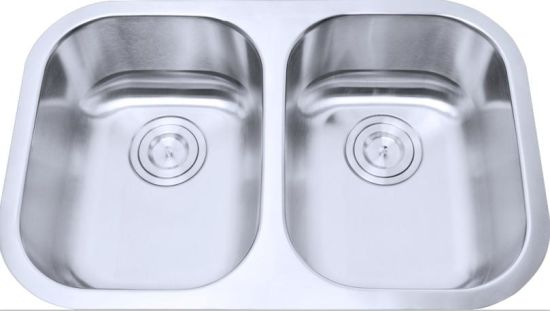China Stainless Steel Kitchen Sink, Small Double Bowls (LD93 ...