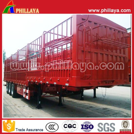 Animal Transport Tri-Axle Stake Fence Livestock Gooseneck Semi Trailer pictures & photos