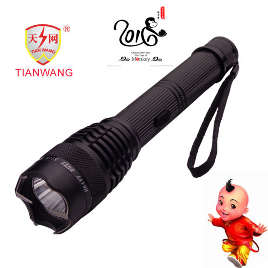 Aluminum Police Security Product Electric Torch with LED Flashlight Stun Guns