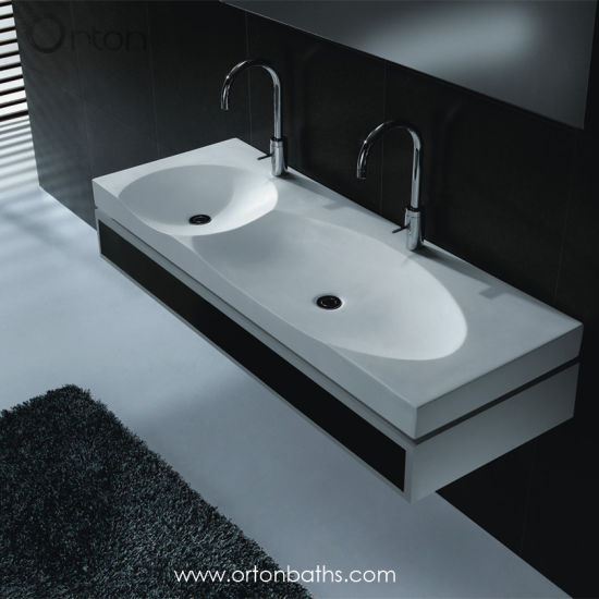 China Round Oval Double Sink Rectangular Bathroom Sanitary