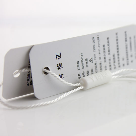 Wholesale Custom Hangtag/Swing Tag with String for Paper Clothing Tag pictures & photos