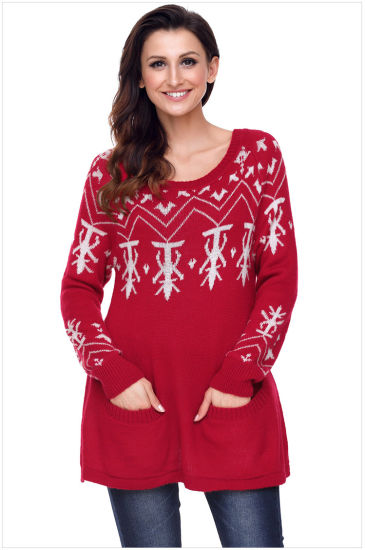 944d2e7731da China Knitwear Pullover Ladies Christmas Jumper Sweater - China ...
