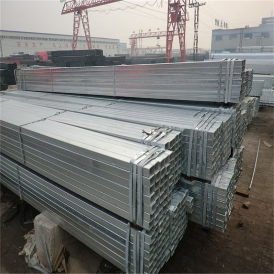 Rectangular Hot DIP Galvanized Steel Hollow Section with Cross Shaft pictures & photos