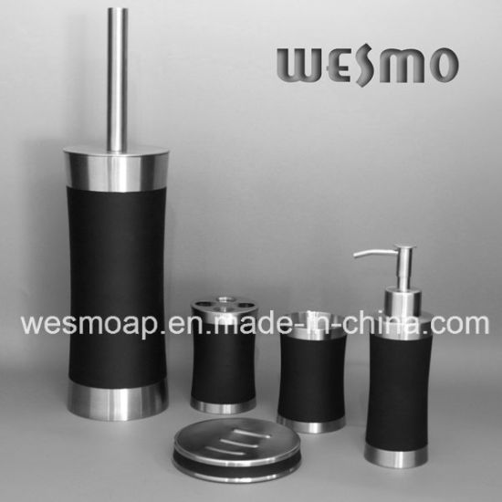 Rubber Paint Stainless Steel Bath Set (WBS0509F) pictures & photos