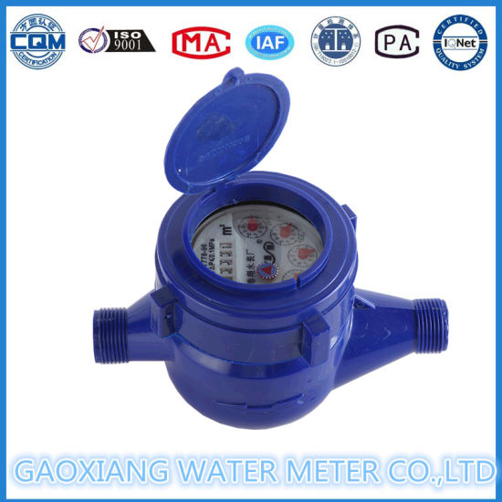 Higt Measuring and Low Price Plastic Wet Dail Cold Water Meter pictures & photos