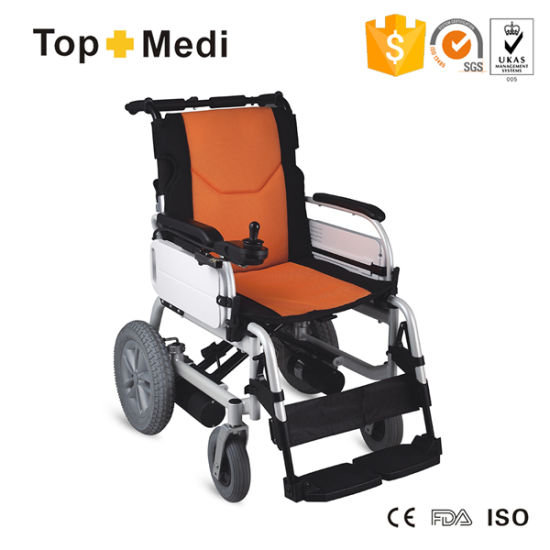 Handicap Easy Carry Detachable Lithium Battery Foldable Power Electric Wheelchair pictures & photos