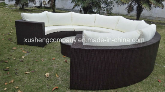 New Design Round Rattan Outdoor Sectional Garden Wicker Furniture pictures & photos