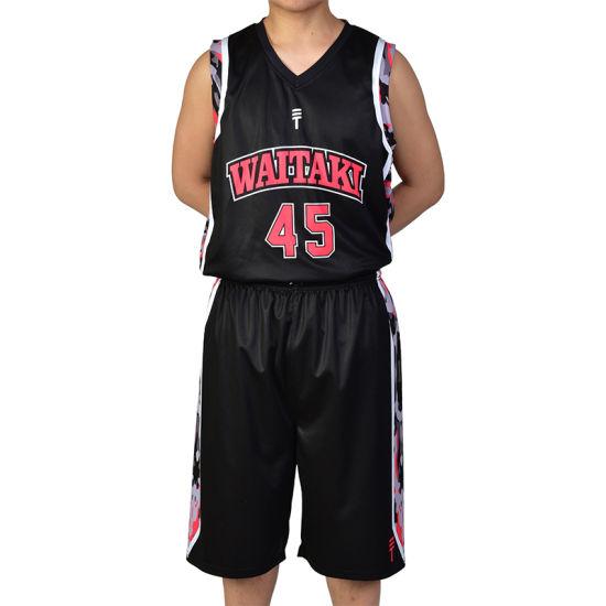 3fb8898daa0 Healong OEM Sportswear Sublimation Printing Reversible Basketball Jersey  Cheap Basketball Uniform pictures & photos