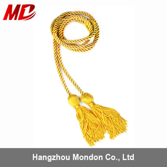 Gold 100% Rayon Twisted Single Graduation Honor Cord pictures & photos