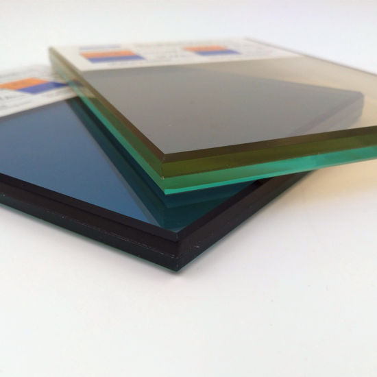 Window 6.38mm 6.76mm Blue Reflective Laminated Glass for Building