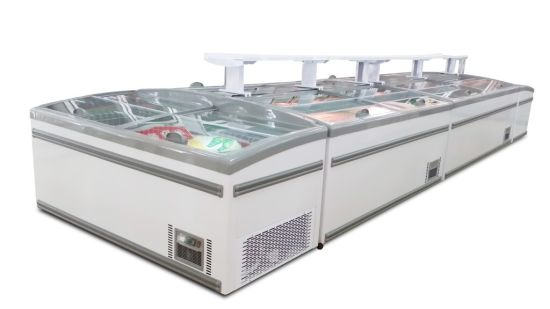 China Combined Style Glass Door Refrigerator Freezer Commercial